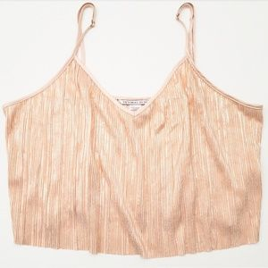 Victoria's Secret Shiny Rose Gold Crop Cami